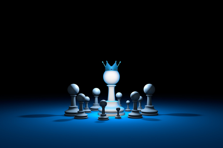 unification: Great authority. Leader. Chess composition. Available in high-resolution and several sizes to fit the needs of your project. Background layout with free text space. 3D illustration render