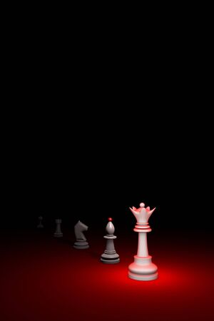 prompt: Prompt career. Vertical chess composition. Available in high-resolution and several sizes to fit the needs of your project. 3D renderi illustration. Black background layout with free text space.