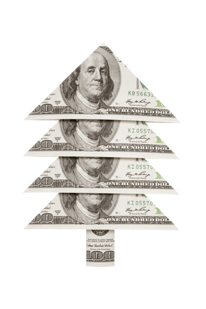 Christmas symbol and metaphor (dollars fur-tree).