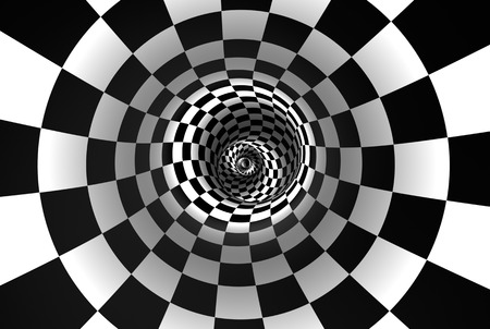 Chess spiral (concept image). The space and time. 3D illustration. Available in high-resolution and several sizes to fit the needs of your project. If you buy this image, I will be very grateful to you! Stock Photo