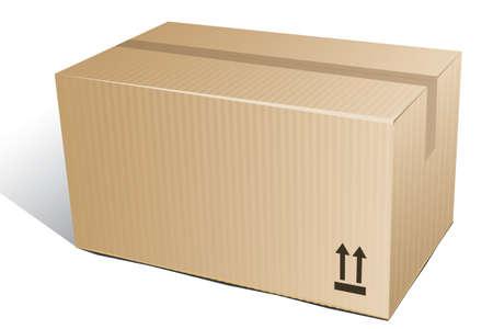 office products: cajas de cart�n corrugado Vectores