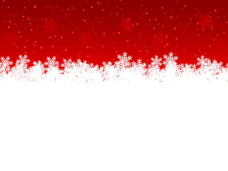 Snowflakes on a red background. Christmas background. Vector illustration.