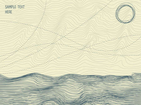 Abstract illustration of Seascape.