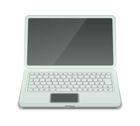 illustration of laptop with blank screen