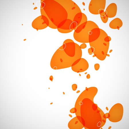 Abstraction of the orange drops on a light background