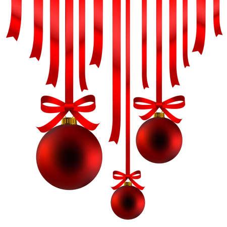 빨간 크리스마스 장식