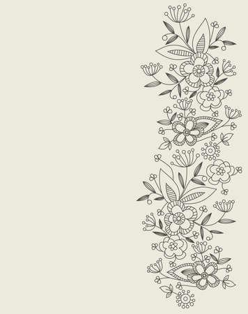 garabatos: patr�n floral Vectores