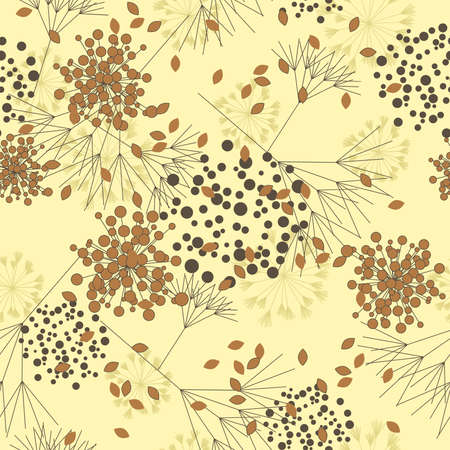 Autumnal seamless pattern in vector