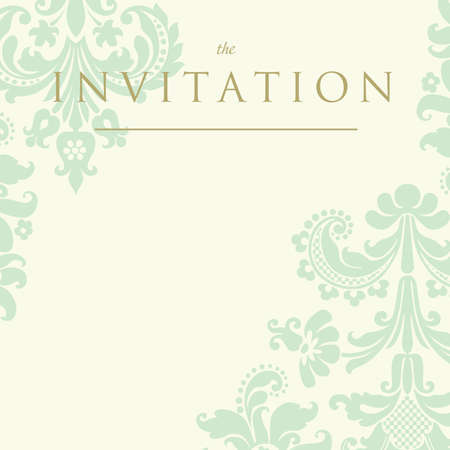 Ornate damask background. Invitation to the wedding or announcements
