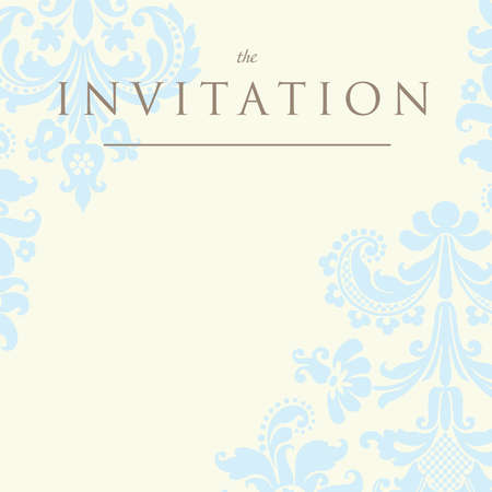 Ornate damask background. Invitation to the wedding or announcements Stock Vector - 9459179