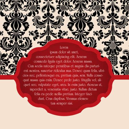 burgundy ribbon: Invito elegante per il matrimonio o annunci