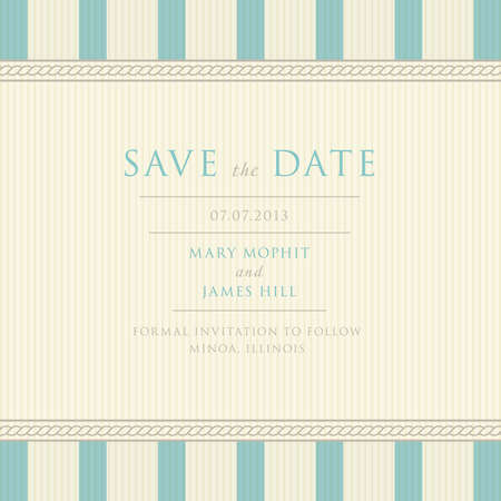 Save the Date with vintage background artwork  Ornate damask background Vector