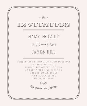 Wedding invitations and announcements Stock Vector - 17773152