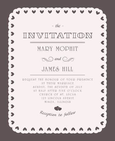 Wedding invitations and announcements