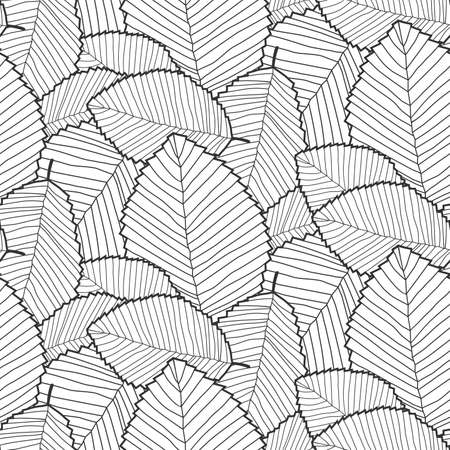 leafs pattern black