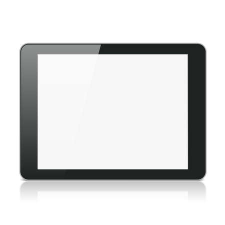 Black Tablet Computer or Reader on White Background Stock Vector - 17993972
