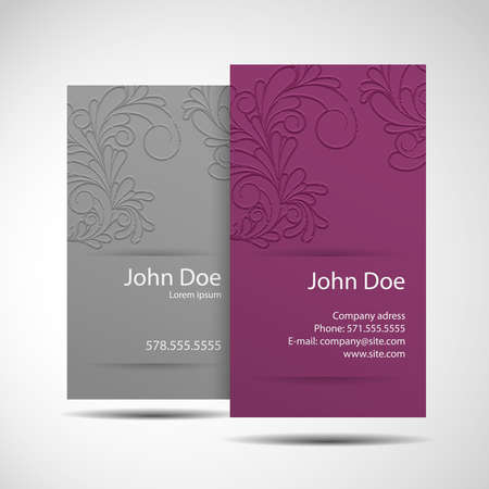 blank business card: Stylish and modern business card Illustration