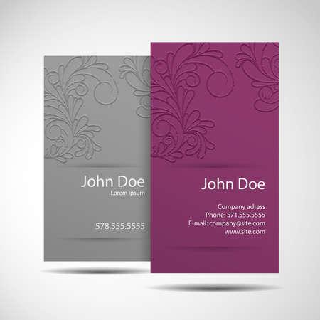 corporative: Stylish and modern business card Illustration