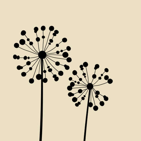 Floral Elements for design, dandelions.