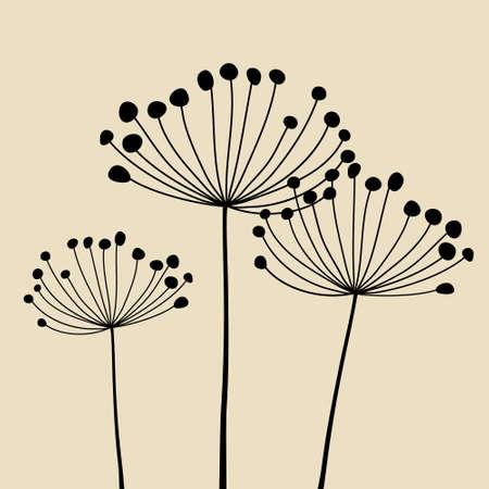 fragility: Floral Elements for design, dandelions.
