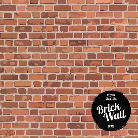 paredes de ladrillos: Pared de ladrillo inconsútil Vectores