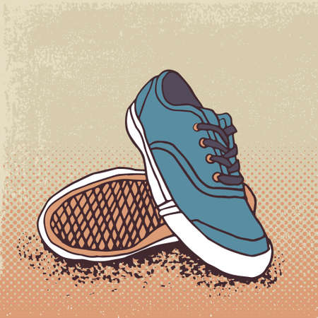 Pair of sneakers Illustration