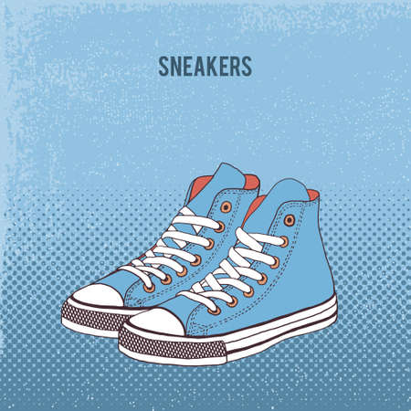 keds: Pair of sneakers Illustration