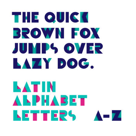 alphabet letters vector: Geometric shapes alphabet letters. Retro font. Latin alphabet letters