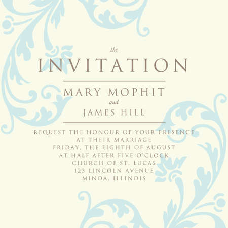 Set of wedding invitations and announcements with vintage invitation with a rich background in renaissance style template framework wedding invitations or announcements with stopboris Image collections