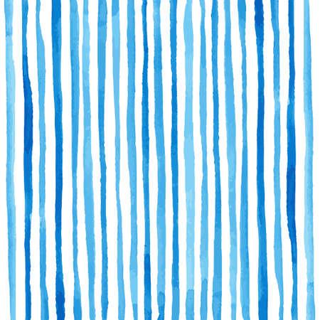 rayas de colores: Patr�n de rayas de la acuarela. Dibujo a mano. Ilustraci�n vectorial Vectores
