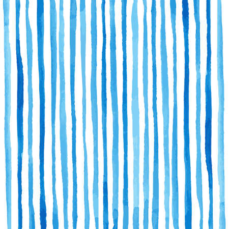 Watercolor stripes pattern. Drawing by hand. Vector illustration