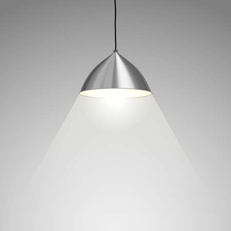 ceiling lamp: Lamp Hanging.  Illustration