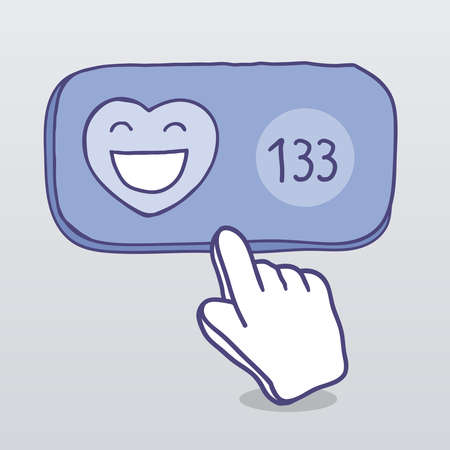 adoration: Like. Communication in social media.