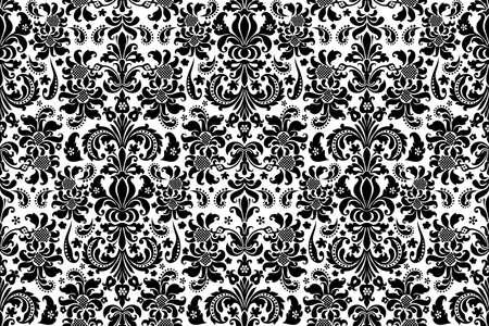 barroco: De fondo sin fisuras del damasco. Fondo adornado vendimia