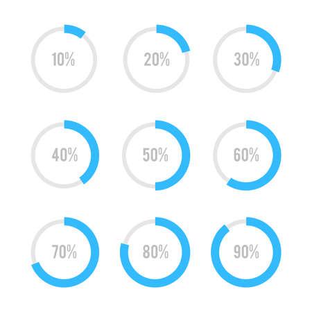 grafica de pastel: Conjunto de diagramas circulares de infografía