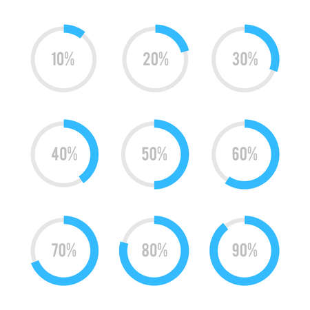 circle graph: Set of circle diagrams for infographics