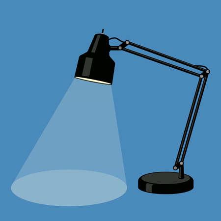 adjustable: Reading-lamp. Flat design.