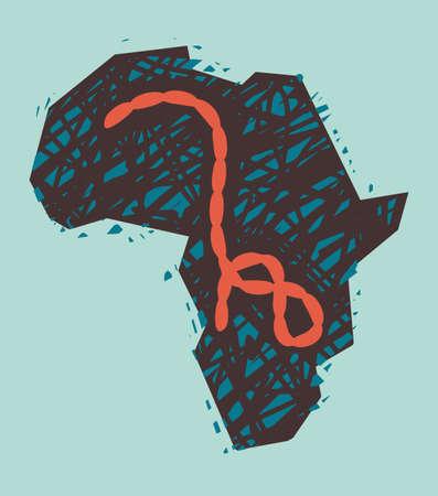 Ebola Virus in Africa. Vector Illustration Vector