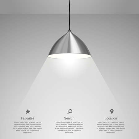Lamp Hanging. Vector illustration Çizim