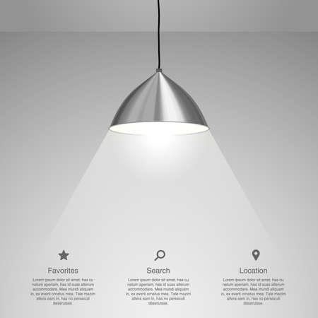 Lamp Hanging. Vector illustration Vettoriali