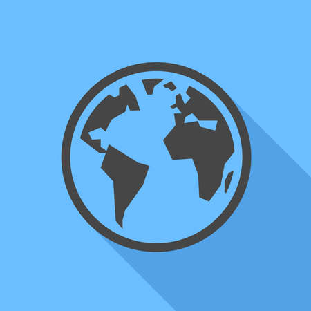 flat earth: Earth icon Flat Design  Illustration