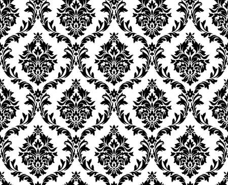 wallpaper wall: seamless damask pattern.