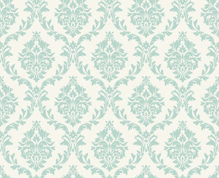 ダマスク織のシームレスなパターン。  イラスト・ベクター素材