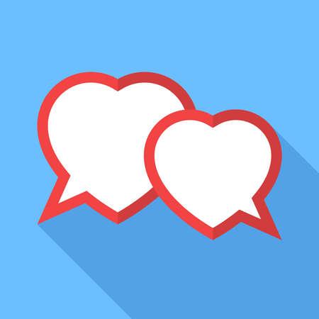 two hearts: Two hearts speech bubble.