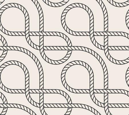 interweaving: Vector astratto senza soluzione di continuit�. Modello di linea. Intreccio corda marina Vettoriali