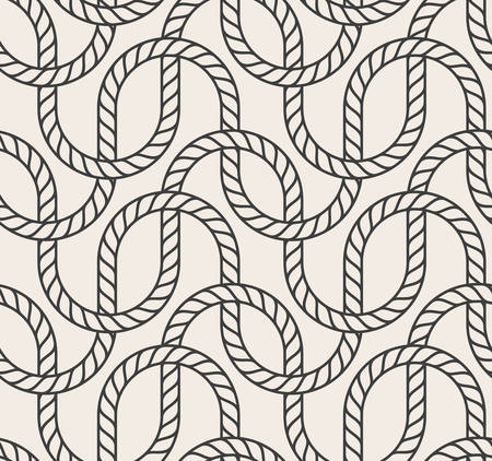 interweaving: Vector abstract seamless background. Line pattern. Interweaving marine rope Illustration