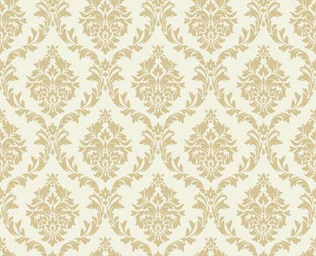 Vector seamless damask pattern. Ornate vintage background Vettoriali