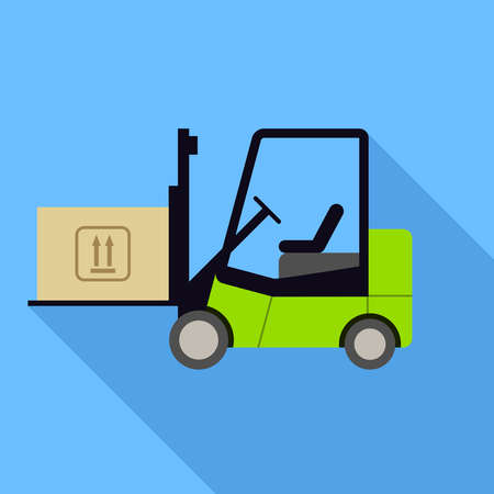 forklift: Forklift icon. Flat Design vector icon