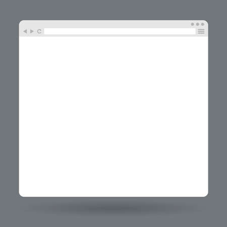 internet browser: Flat blank browser window. Vector Template for your content Illustration