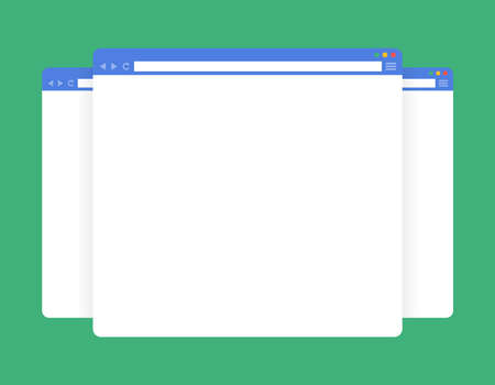 Flat blank browser windows. Template for your content